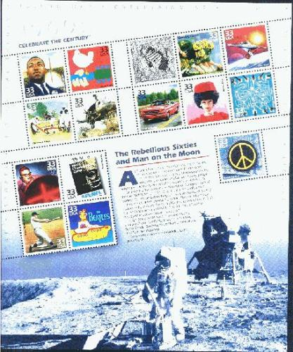 US, Scott# 3182-3191, set of 10 sheets; Celebrate the Century sheets of 15 each(0111)