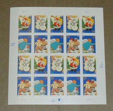 US, Scott# 3949-3952, thirty-seven cent Cookies sheet of 20 stamps (0115)