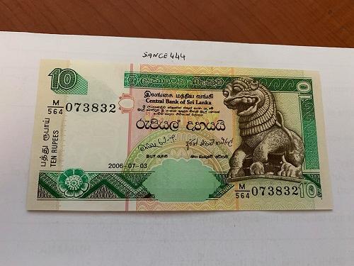 Sri Lanka 10 rupee uncirc. banknote 2006