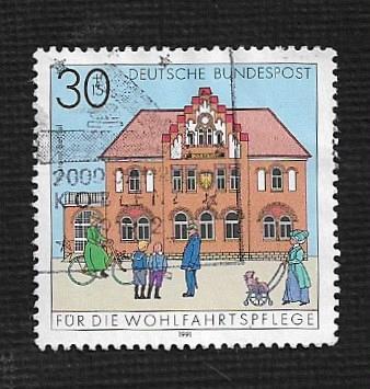 German Used Scott #B714 Catalog Value $.55