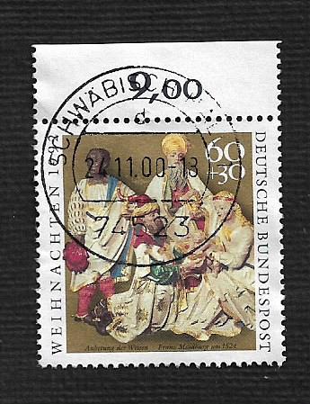 German Used Scott #B739 Catalog Value $.95