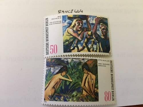 Berlin Modern Paintings mnh 1982 stamps