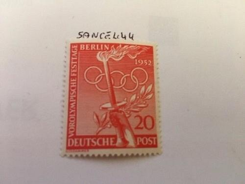 Berlin Olympic Games 20p mnh 1952 stamps #ab