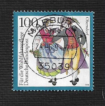 German Used Scott #B754 Catalog Value $1.60