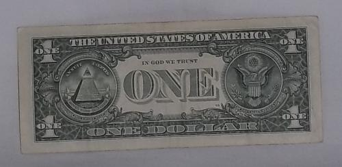 2013 'Cool Serial number' $1.00 US Federal Reserve Note