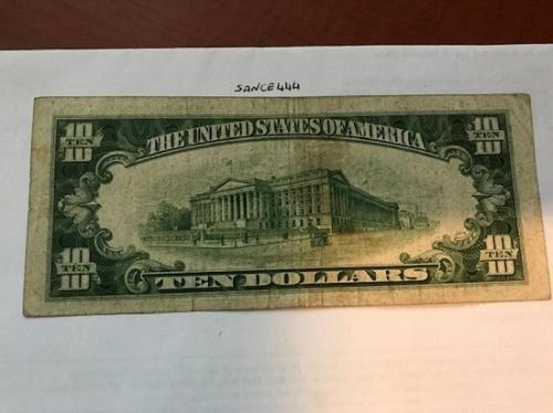 United States Hamilton $10 circulated banknote 1934 #3