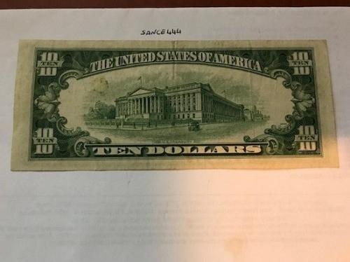 United States Hamilton $10 circulated banknote 1950 C #1