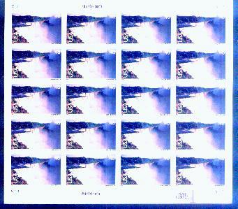 US, Scott# C133, forty-eight cent Nigara Falls sheet of 20 (0138)