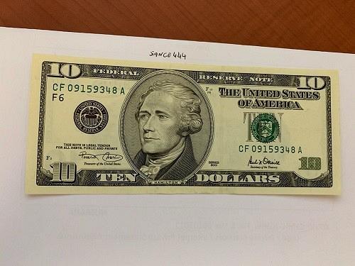 United States Hamilton $10 uncirc. banknote 2001 #4