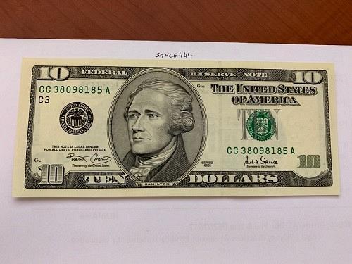 United States Hamilton $10 uncirc. banknote 2001 #6
