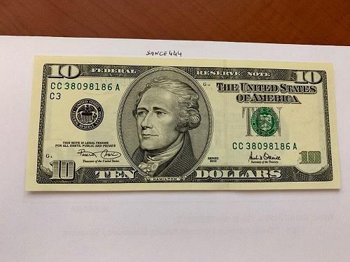 United States Hamilton $10 uncirc. banknote 2001 #7