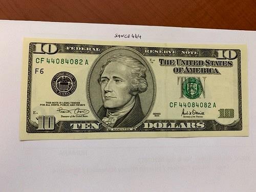 United States Hamilton $10 uncirc. banknote 2001 #8