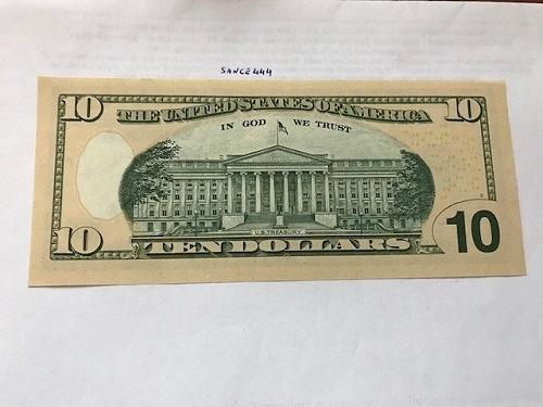 United States Hamilton $10 uncirc. banknote 2006 #1