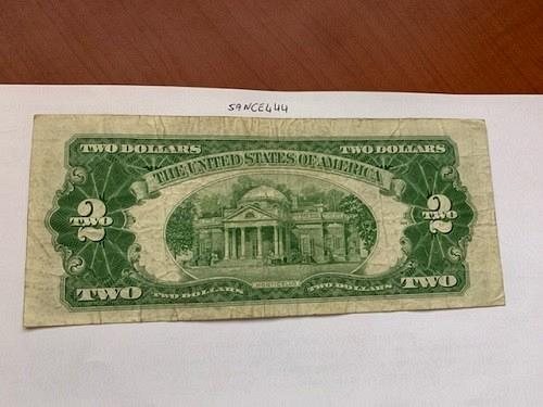 United States Jefferson $2 red circulated banknote 1953