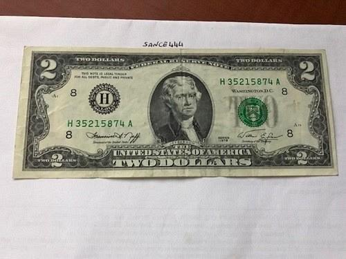 United States Jefferson $2 circulated banknote 1976 #3