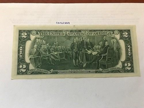 United States Jefferson $2 circulated banknote 1976 #5