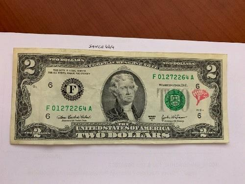 United States Jefferson $2 circulated banknote 2003 #1