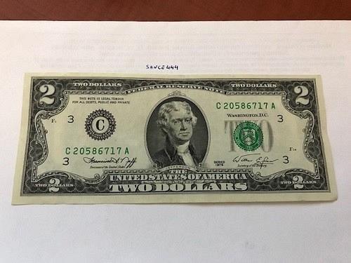 United States Jefferson $2 uncirc. banknote 1976 #4