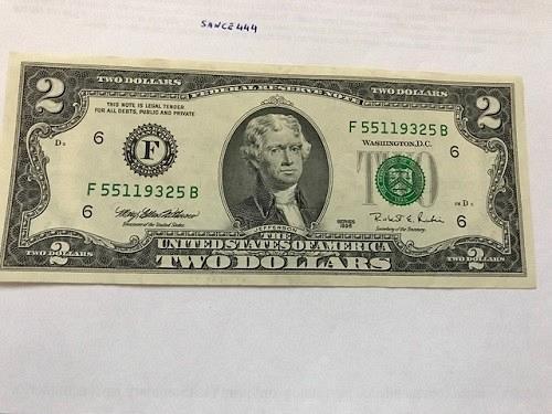 United States Jefferson $2 uncirc. banknote 1995 #1