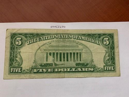 United States Lincoln $5 red circulated banknote 1963 #4