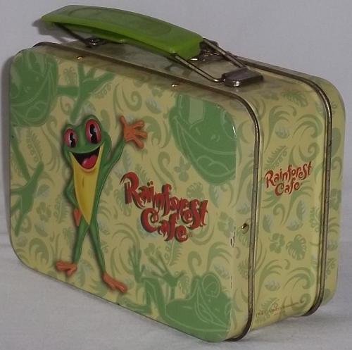 Vintage mini 'RainForest Cafe' metal Lunch Box