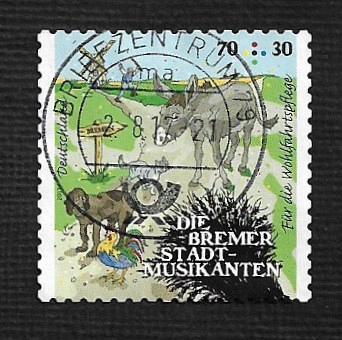 German Used Scott #B1127 Catalog Value $2.10