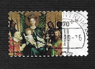 German Used Scott #B1136 Catalog Value $2.40
