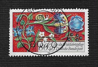 German Used Scott #B638 Catalog Value $.85