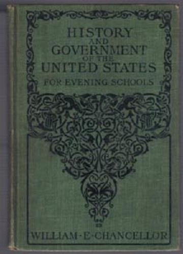 HISTORY & GOVERNMENT of the UNITED STATES :: 1905 HB :: FREE Shipping