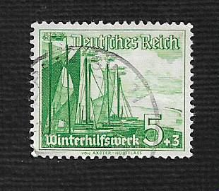 German Used Scott #B109 Catalog Value $.40