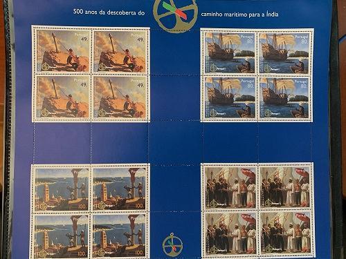 Portugal Vasco de Gama 2 sheets mnh 1997 stamps