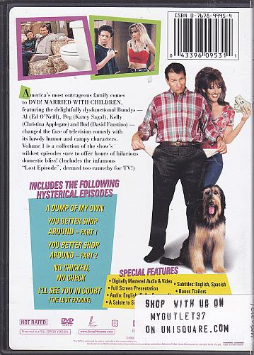 Married with Children, Vol. 1 - The Most Outrageous Episodes DVD - Very Good