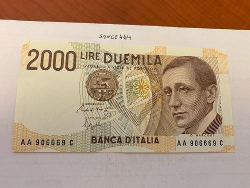 Italy Marconi 2000 lire uncirc. banknote 1990 #8