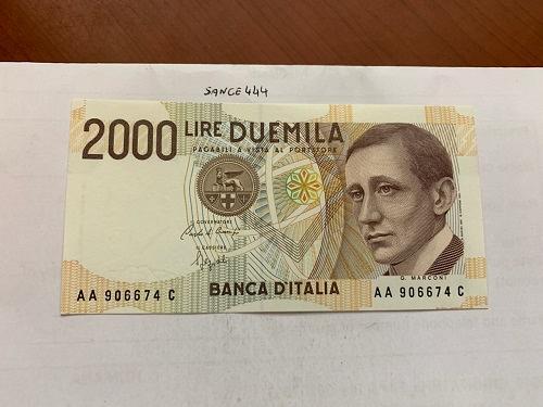 Italy Marconi 2000 lire uncirc. banknote 1990 #10