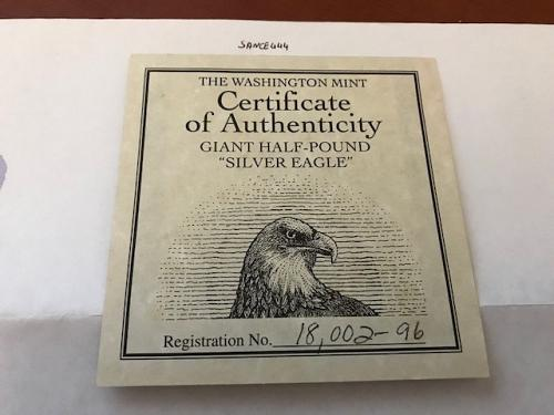 USA United States authenticity card