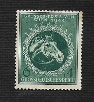 German Hinged Scott #B284 Catalog Value $.25