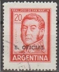 [ARO137] Argentina: Sc. No. O137 (1967) Used