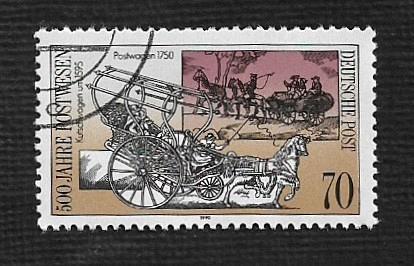 German DDR Used Scott #2843 Catalog Value $.60