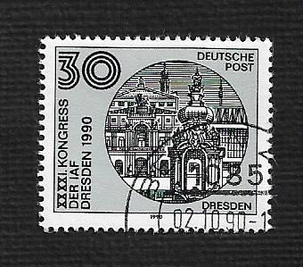 German DDR Used Scott #2849 Catalog Value $.25