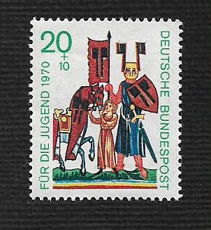 German MNH Scott #B456 Catalog Value $.55