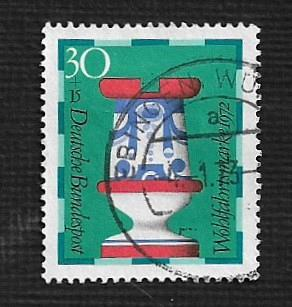 German Used Scott #B492 Catalog Value $.25