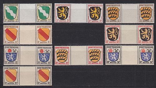 GERMANY Alliiert Franz. Zone [Allgemein] MiNr 0001 ZW ex ( **/mnh ) [01]