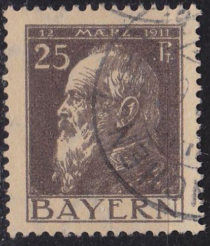 GERMANY Bayern Bavaria [1911] MiNr 0080 I ( O/used )