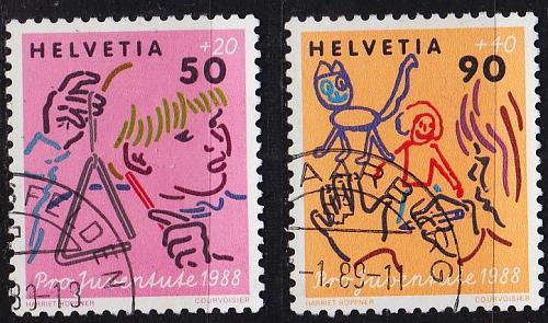 SCHWEIZ SWITZERLAND [1988] MiNr 1381 ex ( O/used ) [02] Pro Juventute