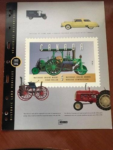 Canada Land Vehicles m/s with folder mnh 1996 stamps