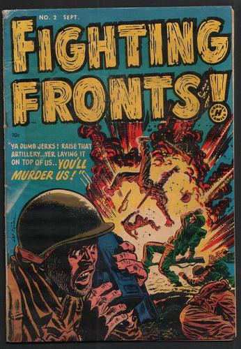 FIGHTING FRONTS COMIC #2 UFO STORY EXPLOSIVE COVER SEPTEMBER 1952 VG RARE