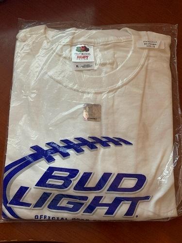 Official sponsor bud shirt NFL new xl