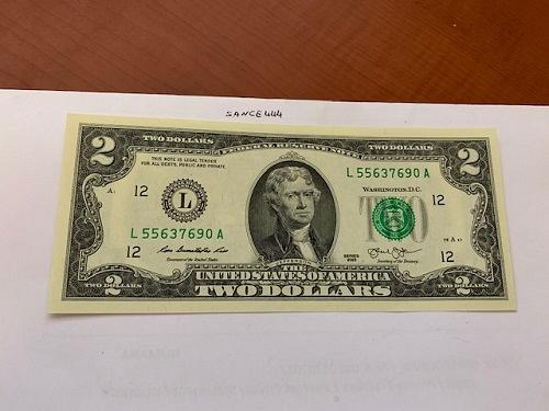 United States Jefferson $2 uncirc. banknote 2013 #2