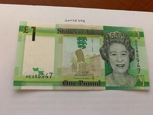 Jersey 1 pound uncirc. banknote 2018 #2