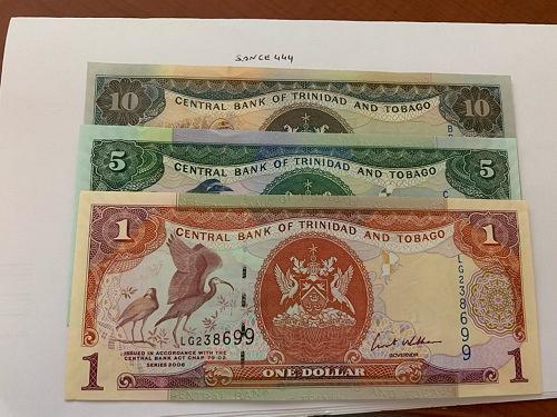 Trinidad and Tobago lot of 3 uncirc. banknotes 2006